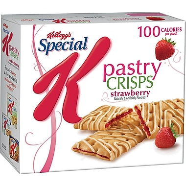 Kellogg's Special K Pastry Crisps, Strawberry, 9 Packs/Box