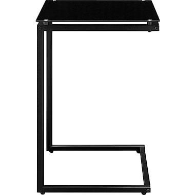 Altra Glass Top C Table, Black