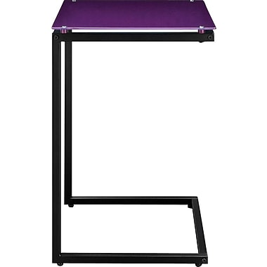 Altra Glass Top C Table, Purple