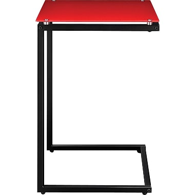 Altra Glass Top C Table, Red