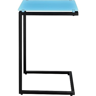 Altra Glass Top C Table, Teal