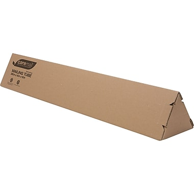 "Caremail Eco-Friendly Recyclable Triangle Mailing Tube 6""x6""x36""  12/cs"
