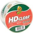 "Duck® HD Clear High Performance Crystal Clear Packaging Tape, 1.88"" x 54.6 Yards"