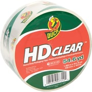 "Duck® HD Clear High Performance Crystal Clear Packing Tape, 1.88"" x 54.6 Yards"