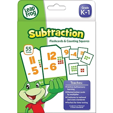 LeapFrog Flash Cards, Subtraction, Grades K-4