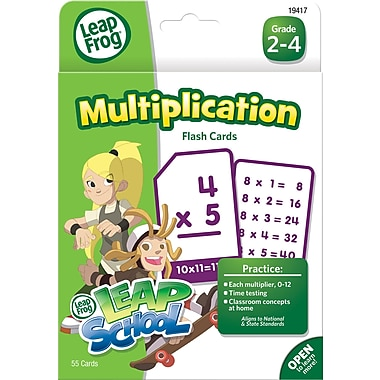 LeapFrog Flash Cards, Multiplication, Grades K-4