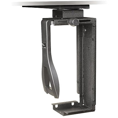 3M™ CS200MB Under-Desk Steel CPU Holder With Swivel, 8 1/4in.(H) x 14.8in.(W) x 20in.(L)