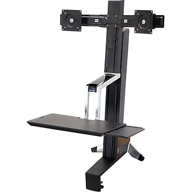 Ergotron® 33341200 WorkFit-S Sit-Stand Work Station, Up To 12 - 28 lbs.