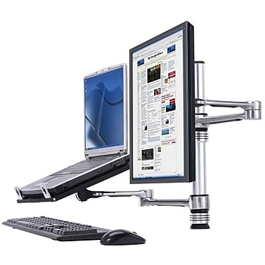 Atdec Visidec VFATNBC Focus Notebook And Monitor Arm Combo, Up To 17.5 lbs.
