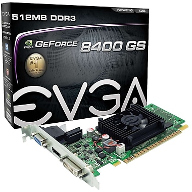 EVGA® NVIDIA® GeForce® 512-P3-1300-LR Video Card, 512 MB DDR3, 4.8 GBPS