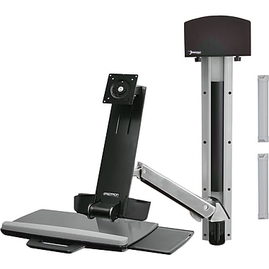 Ergotron® StyleView® 45266026 Articulating Sit Stand Combo System, 29 lbs.