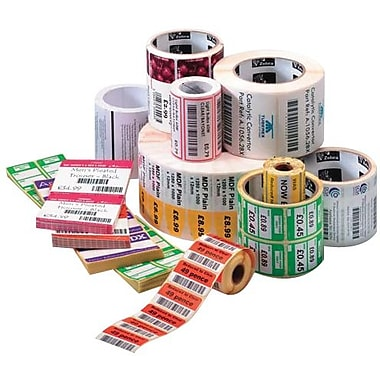 Zebra® Z-Perform® 10000288 2000T Paper Thermal Transfer Label, White, 1in.(H) x 2in.(W), 5500/Roll