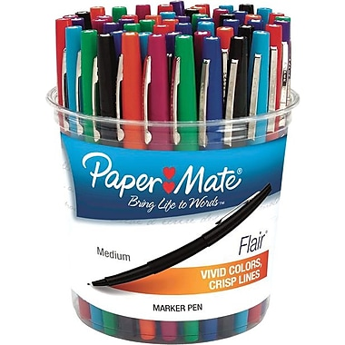 Paper Mate Liquid Flair Pen, Porous Medium Point, Assorted Colors, 48/pk (4651)