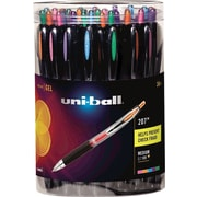 uni-ball® 207 Retractable Gel Pens, Medium Point 0.7 mm, Assorted Colors, 36/pk (40111)