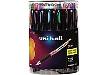 Uni-ball® 207® Retractable Gel-Ink Pens, Medium Point, Assorted, 36/Pack