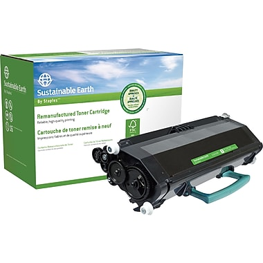 Sustainable Earth by Staples™ Remanufactured Laser Toner Cartridge, Lexmark E260 Black