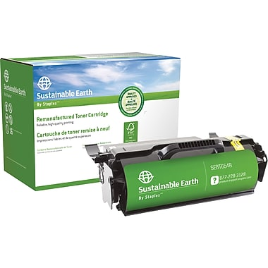 Sustainable Earth by Staples™ Remanufactured Laser Toner Cartridge, Lexmark T654 Black