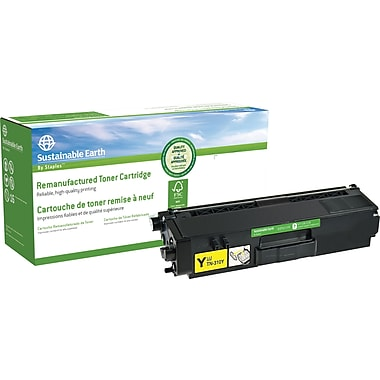 Sustainable Earth by Staples™ Remanufactured Yellow Toner Cartridge, Brother TN-315Y, High Yield