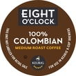 Keurig K-Cup Eight O'Clock 100% Columbian Coffee, Regular, 18/Pack