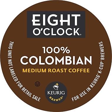 Keurig K-Cup Eight O'Clock 100% Colombian Coffee, Regular, 18/Pack