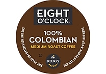 Keurig® K-Cup® Eight O'Clock 100% Colombian Coffee, Regular, 18/Pack