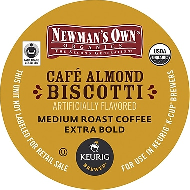 Keurig K-Cup Newmans Own Café Almond Biscotti Coffee, 18 Pack