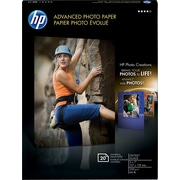 "HP Advanced Photo Paper, 5"" x 7"", Glossy, 20/Pack"
