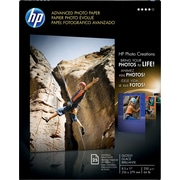 HP Advanced Photo Paper, 8 1/2 x 11, Glossy, 25/Pack