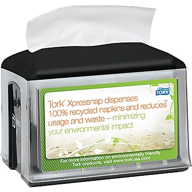 SCA Xpressnap Tabletop Napkin Dispenser, Black