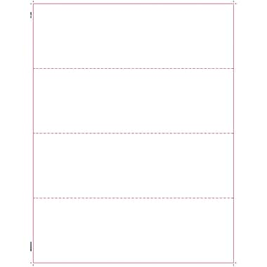 TOPS W-2 Tax Form, 1 Part, 4 per page blank front and back, White, 8 1/2in. x 11in.,  2000 Sheets/Carton