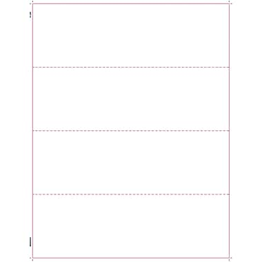 TOPS W-2 Tax Form, 1 Part, 4 per page blank front and back, White, 8 1/2in. x 11in.,  50 Sheets/Pack