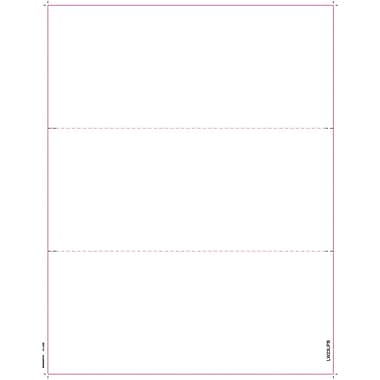 TOPS W-2 Tax Form, 1 Part, 3 up blank face with backers, White, 8 1/2in. x 11in.,  2000 Sheets/Carton