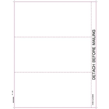 TOPS™ 1099 Tax Form, 1 Part, White, 8 1/2in. x 11in.,  2000 Sheets/Carton