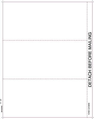 "TOPS™ 1099 Tax Form, 1 Part, White, 8 1/2"" x 11"",  2000 Sheets/Carton"