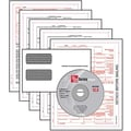 TOPS 1099MISC Tax Form Kit with Software, 5 Part, White, 8 1/2in. x 11in., 100 forms and envelopes