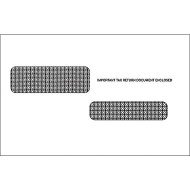 TOPS Gummed W2C Tax Double Window Envelope, 24 lb., White, 53/4in. x 9in., 100/PK