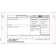 TOPS™ W-2 Tax Form, 4 Part, Carbonless, White, 9 1/2 x 5 1/2, 100 Forms/Pack