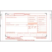 "TOPS® W-2 Tax Form, 6 Part, White, 9 1/2"" x 5 1/2"", 100 Forms/Pack"