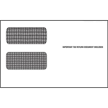 TOPS Gummed 2 Up 1099 Tax Double Window Envelope, 24 lb., White, 5 5/8in. x 9in., 100/Pack