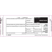 TOPS™ 1099INT Tax Form, 2 Part Peel-A-Part, White, 9 x 3 2/3, 102 Forms/Pack