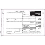 "TOPS® 1099MISC Tax Form, 2 Part Mailer, with extra ply, White, 9"" x 5 1/2"", 100 Forms/Pack"