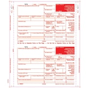 "TOPS® 1099R Tax Form, 4 Part Mailer, Copy A printed in red, White, 9"" x 5 1/2"", 100 Forms/Pack"