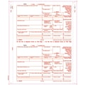 TOPS 1099R Tax Form, 4 Part Carbonless, Copy A printed in red, White, 9in. x 5 1/2in., 100 Forms/Pack