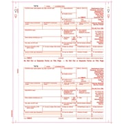 """TOPS® 1099R Tax Form, 4 Part Carbonless, Copy A printed in red, White, 9"""" x 5 1/2"""", 100 Forms/Pack"""