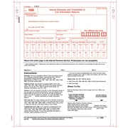 "TOPS® 1096 Tax Form, 2 Part, White, 9"" x 11"", 100 Forms/Pack"