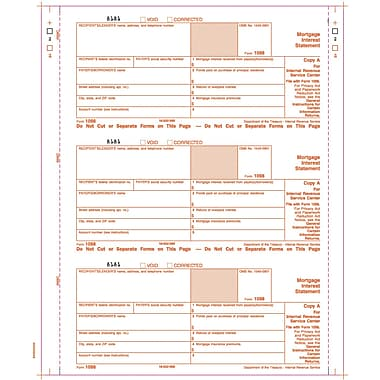 TOPS 1098 Tax Form, 4 Part, White, 9in. x 3 2/3in., 102 Forms/Pack