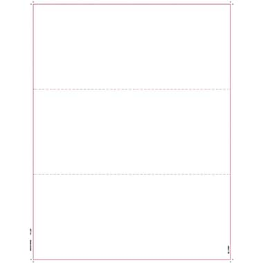 TOPS W2 OR 1099 Blank Front and Back Tax Form, 1 Part, White, 8 1/2in. x 11in., 50 Sheets/Pack