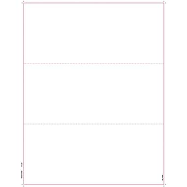 TOPS W-2 or 1099 Blank Front and Back Tax Form, 1 Part, White, 8 1/2in. x 11in., 2000 Sheets/Carton