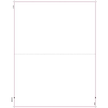 TOPS W-2 Blank Front and Back Tax Form, 1 Part, White, 8 1/2in. x 11in., 50 Sheets/Carton