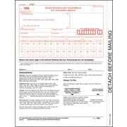 "TOPS® 1096 Tax Form, 1 Part, White, 8 1/2"" x 11"", 2000 Sheets/Carton"